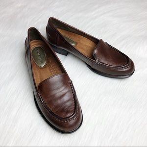 HUSH PUPPIES Blondelle Brown Leather Loafer